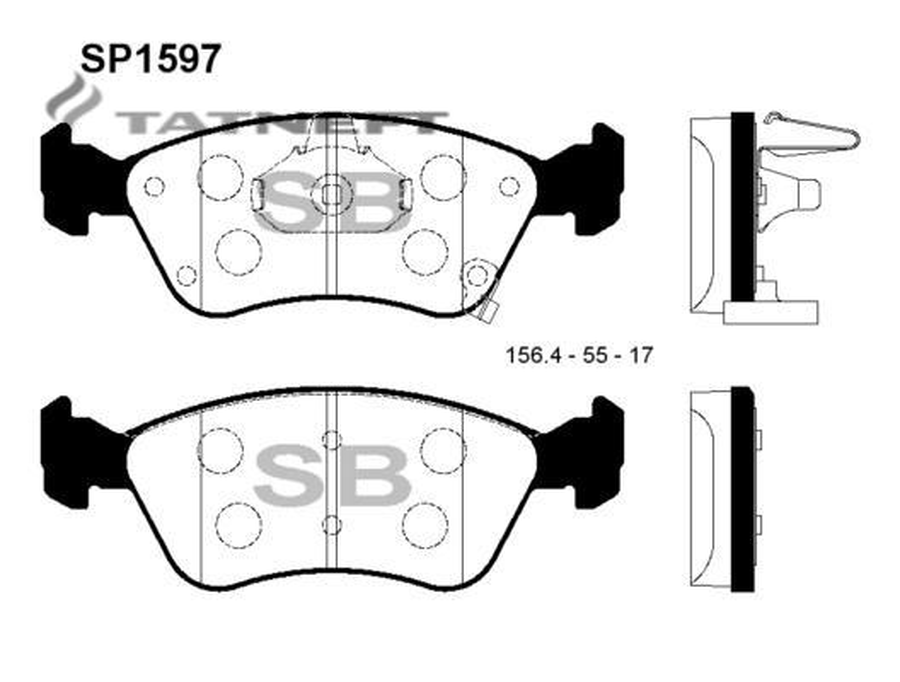 Колодки тормозные передние SP1597