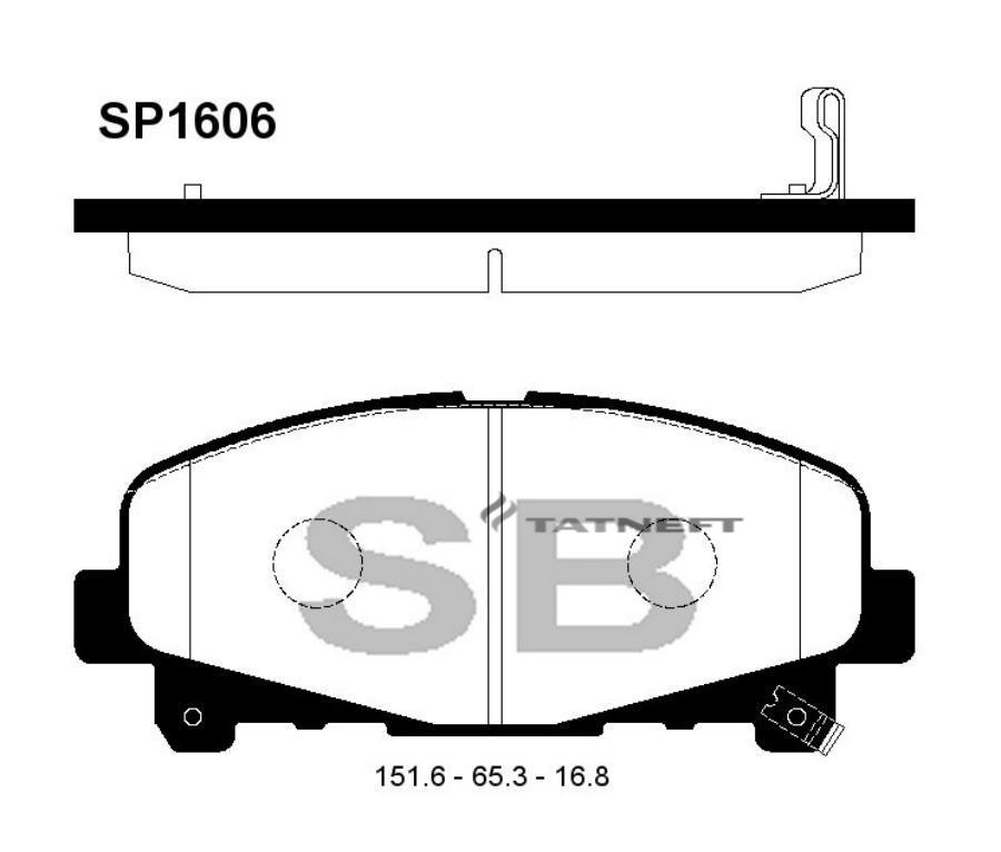 Колодки тормозные передние SP1606
