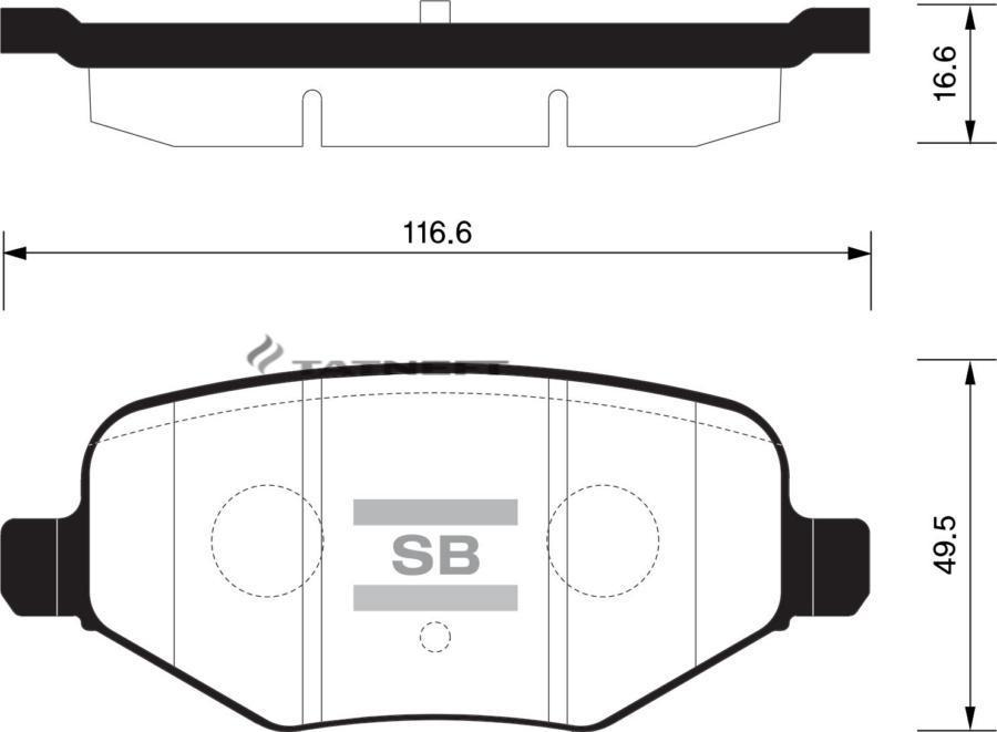 Колодки тормозные задние SP1621