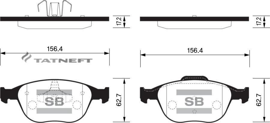 Колодки тормозные передние SP1623