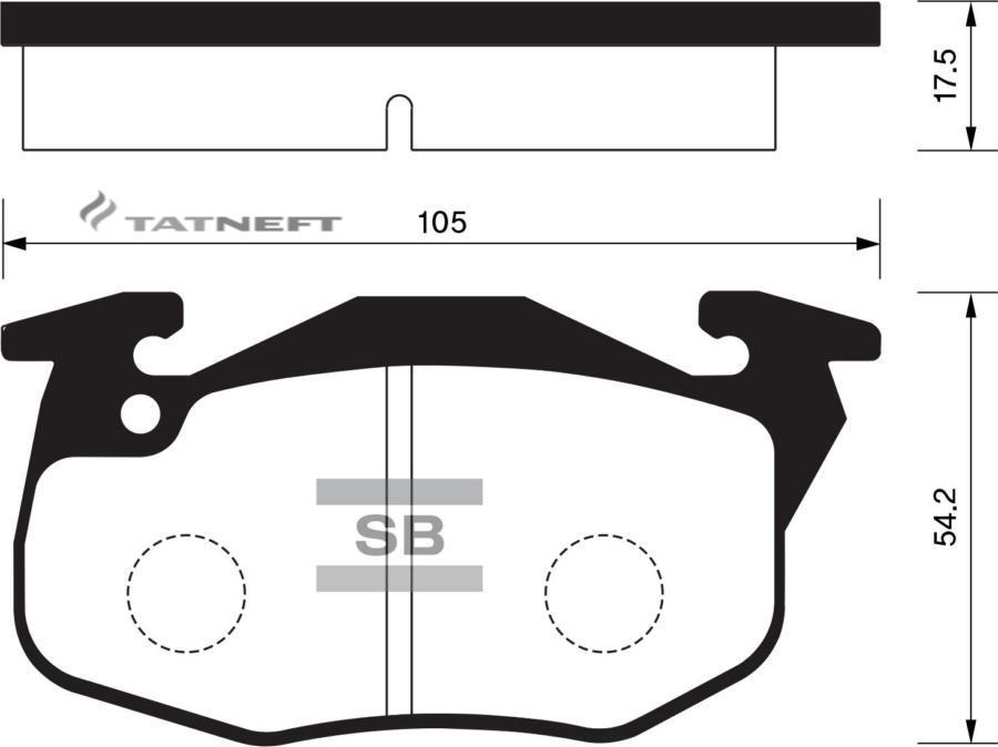 Колодки тормозные передние SP2003