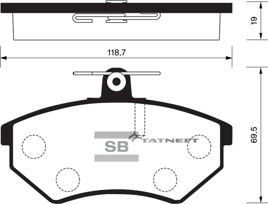Колодки тормозные передние SP2005