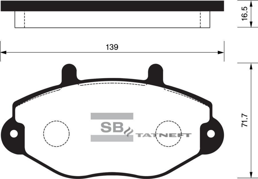 Колодки тормозные передние SP2019