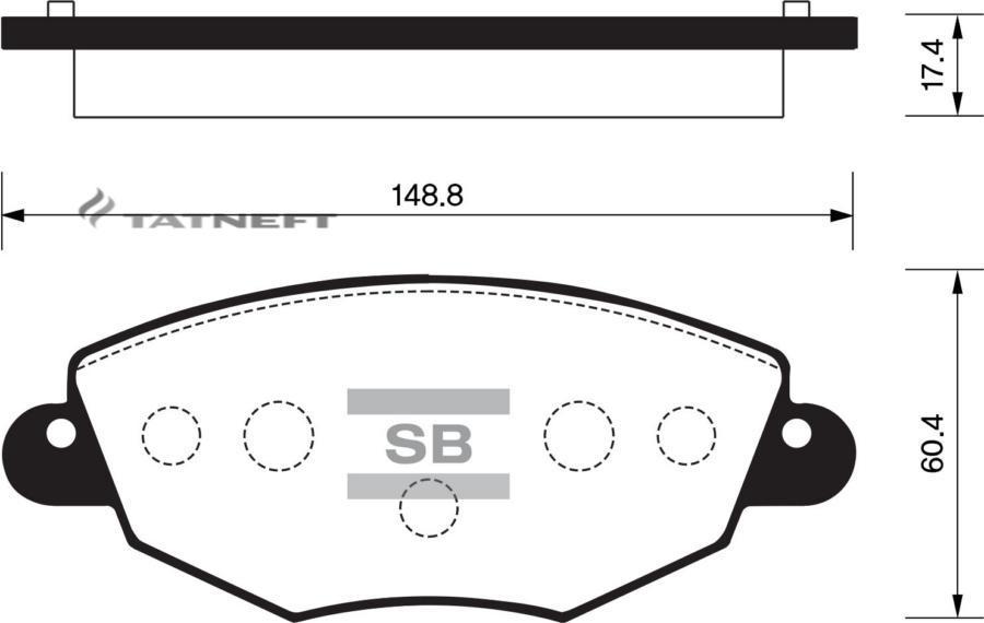 Колодки тормозные передние SP2030