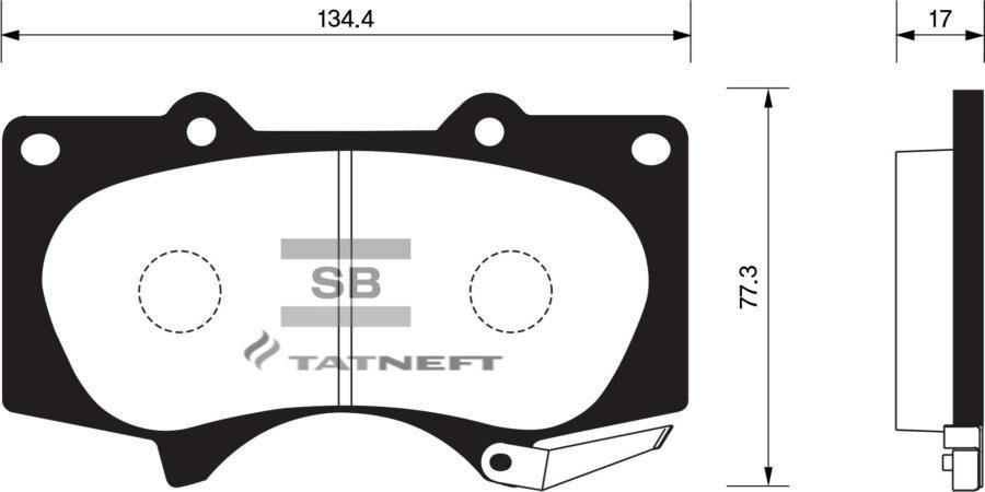 Колодки тормозные передние  SP2033