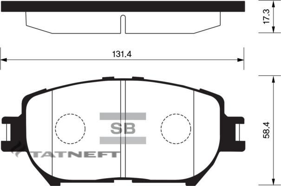 Колодки тормозные передние SP2037