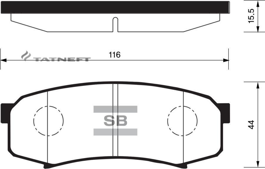 Колодки тормозные задние SP2040