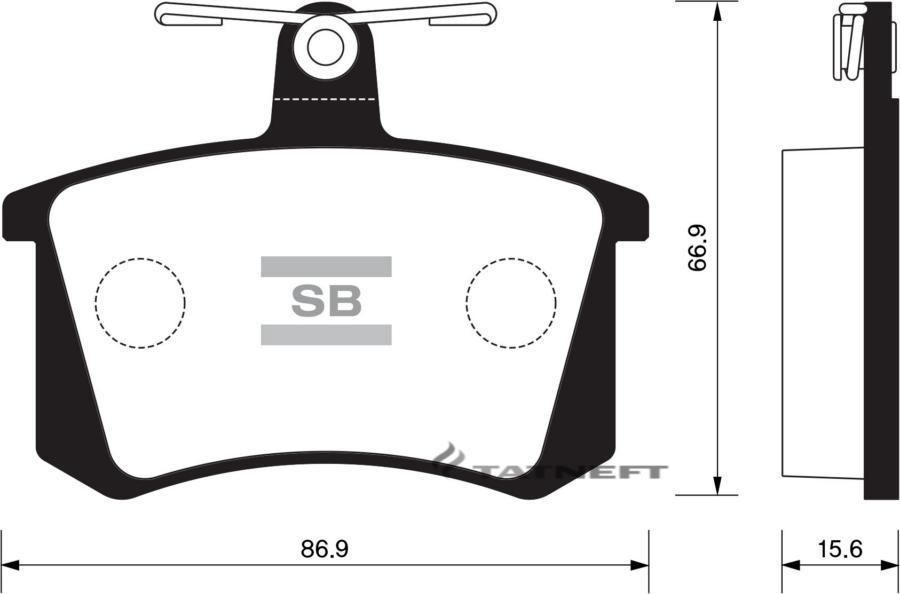 Колодки тормозные задние SP2050