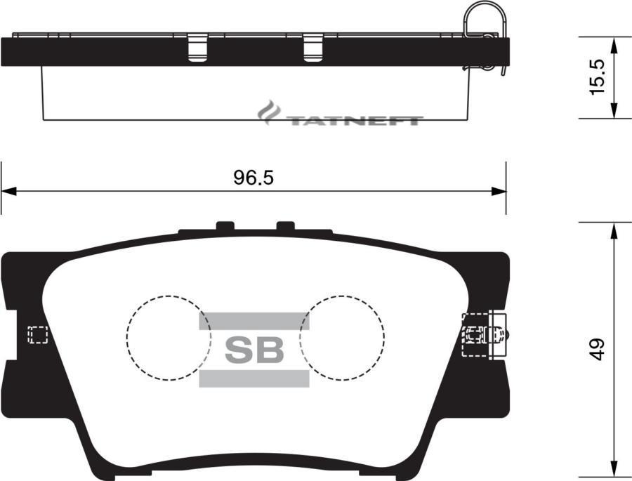 Колодки тормозные задние SP2081