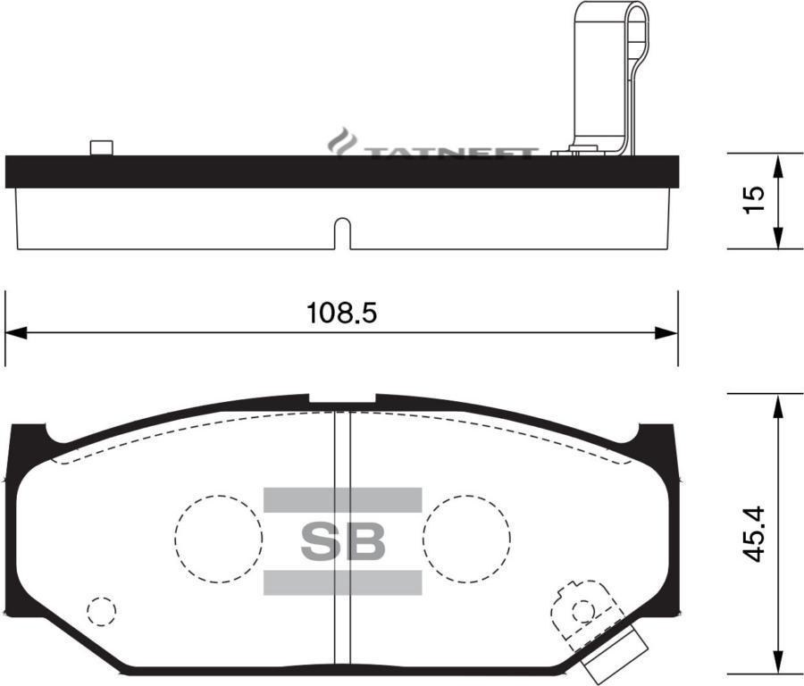 Колодки тормозные передние SP2086