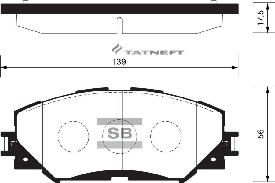 Колодки тормозные передние SP2093