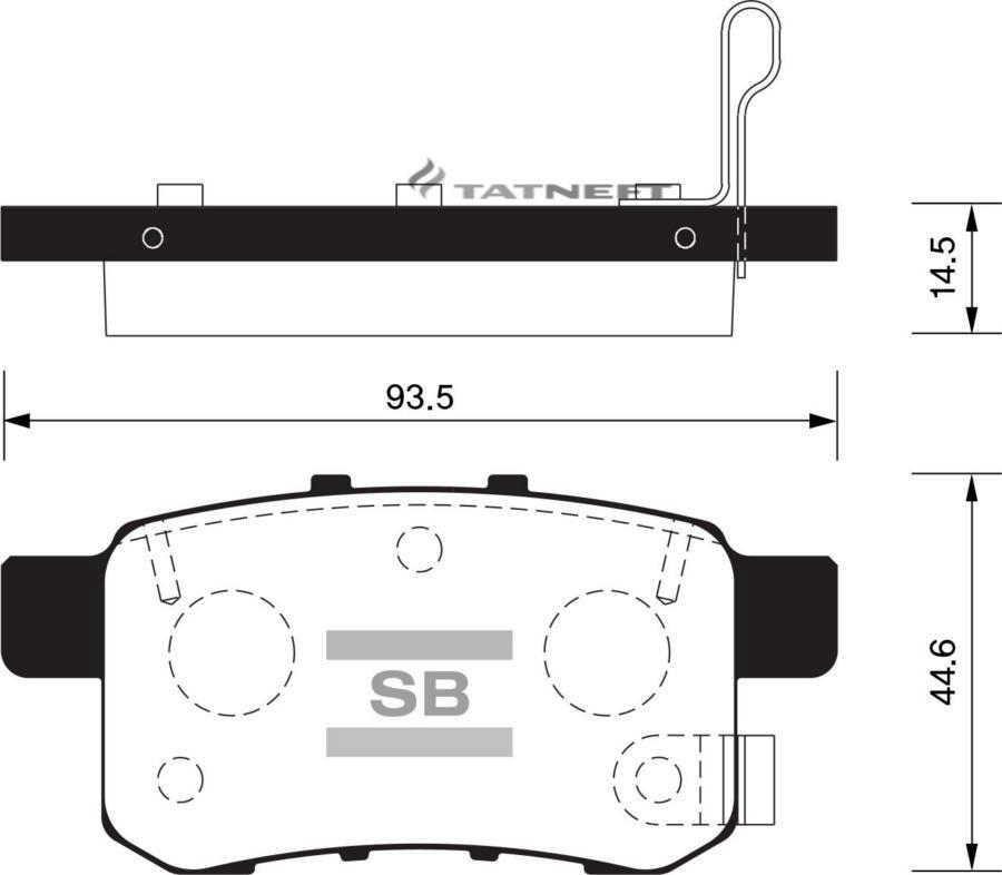 Колодки тормозные задние SP2103