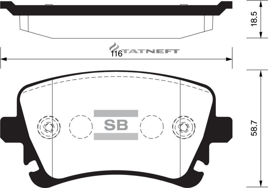 Колодки тормозные задние SP2112R