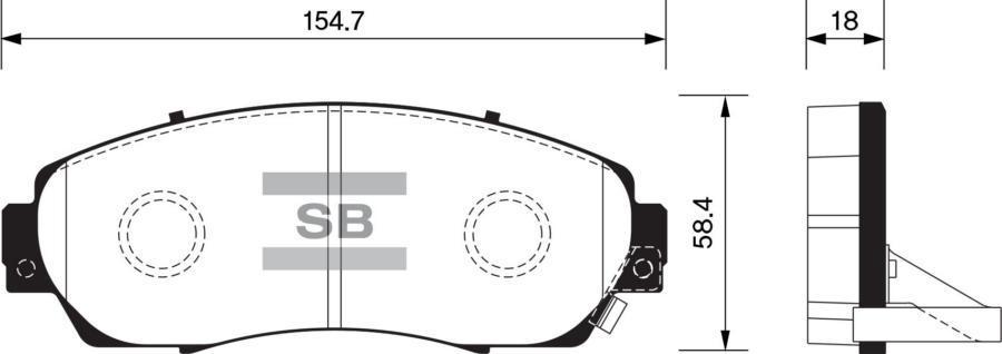 Колодки тормозные передние SP2115