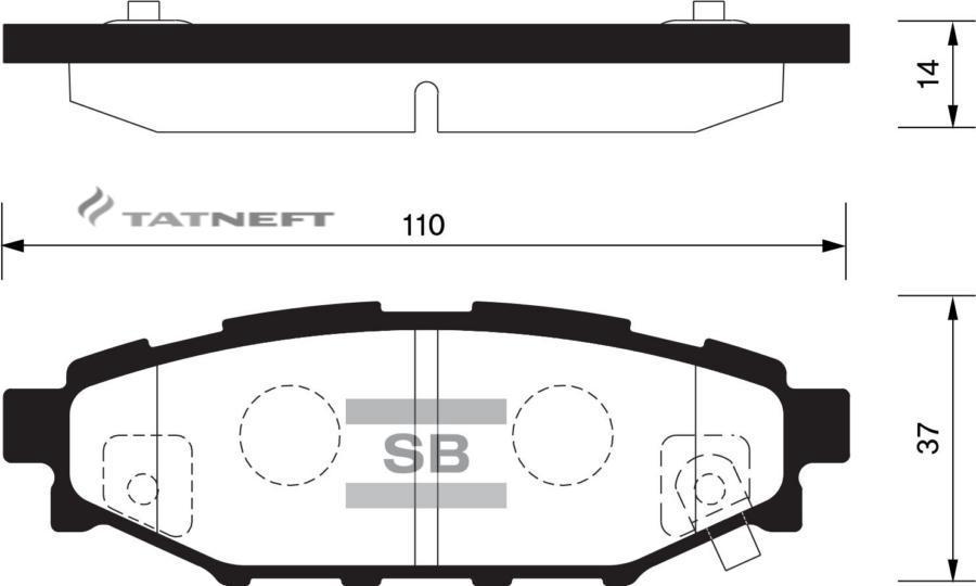 Колодки тормозные задние SP2118
