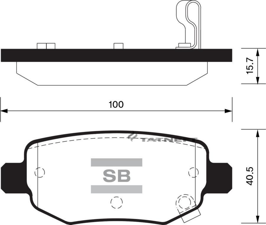 Колодки тормозные задние SP2126R
