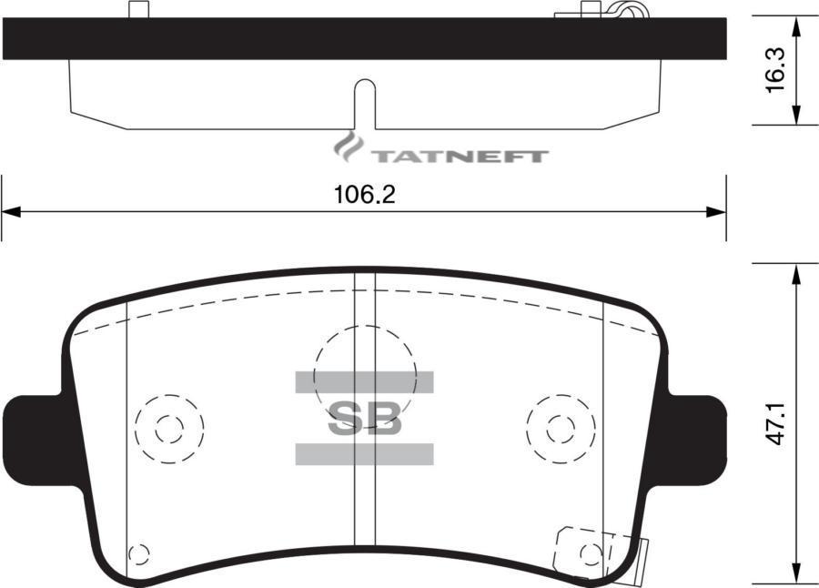 Колодки тормозные задние SP2135