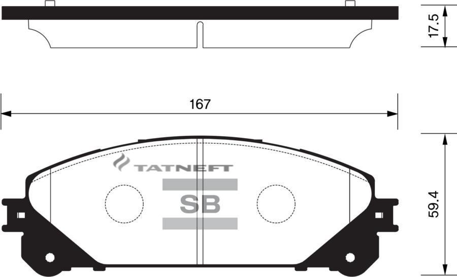 Колодки тормозные передние SP2137