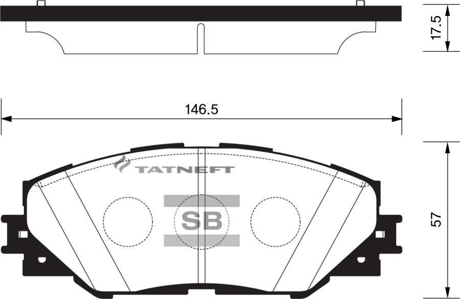 Колодки тормозные передние SP2138
