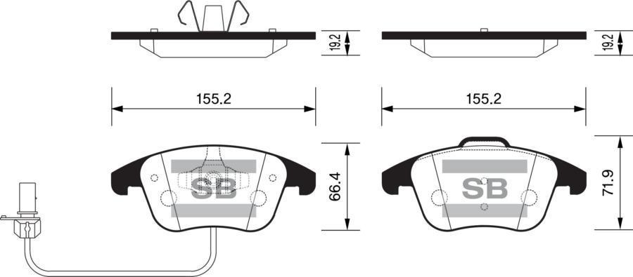 Колодки тормозные передние SP2144
