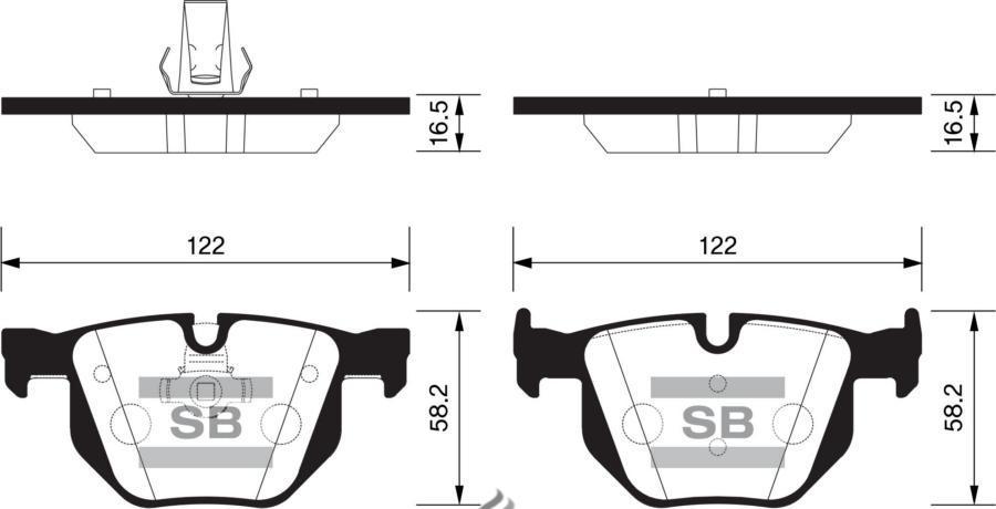Колодки тормозные задние SP2157