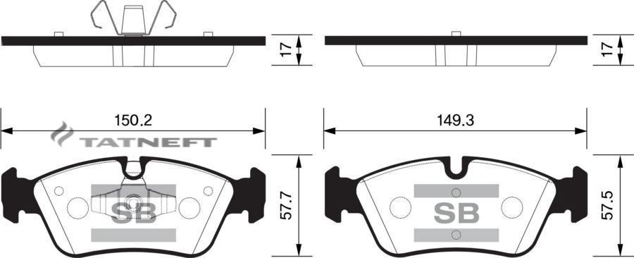Колодки тормозные передние SP2160