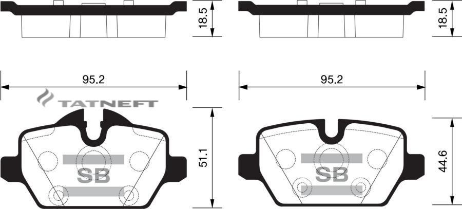 Колодки тормозные задние SP2161