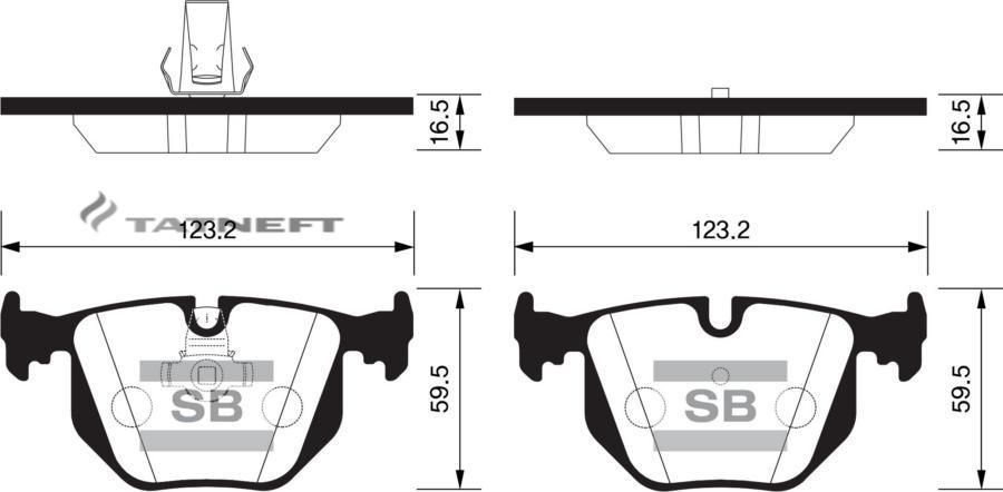 Колодки тормозные задние SP2168