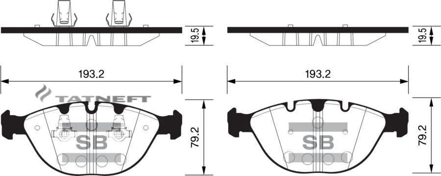 Колодки тормозные передние SP2170