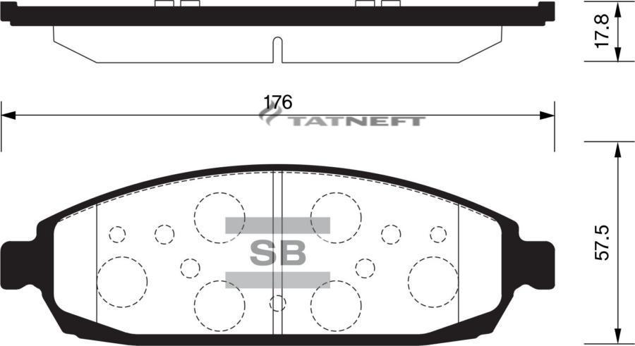 Колодки тормозные передние SP2181
