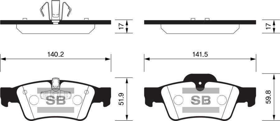 Колодки Mercedes-Benz ML