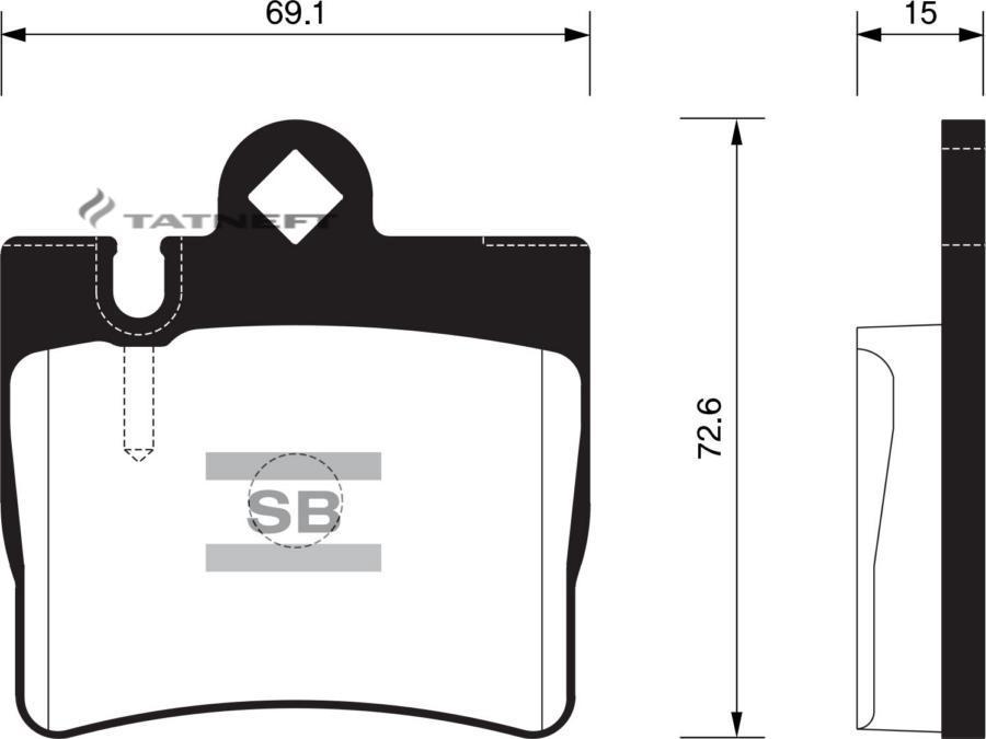 Колодки тормозные задние SP2192