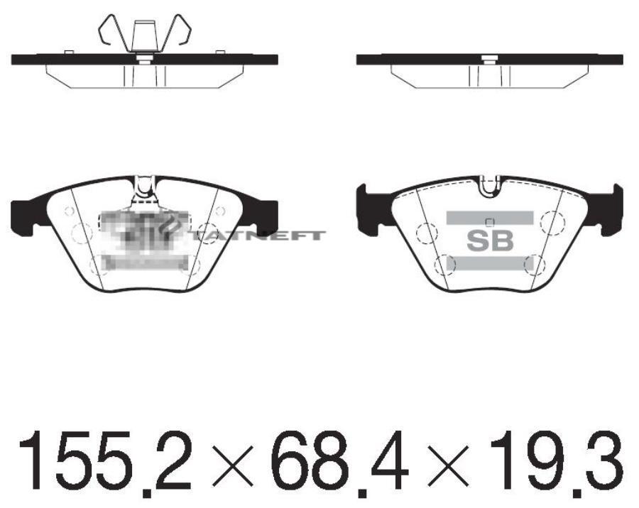 Колодки тормозные передние SP2210