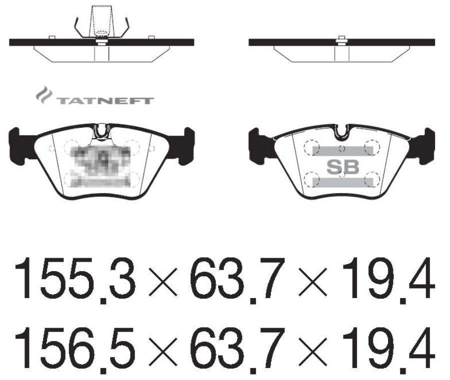 Колодки тормозные передние SP2216