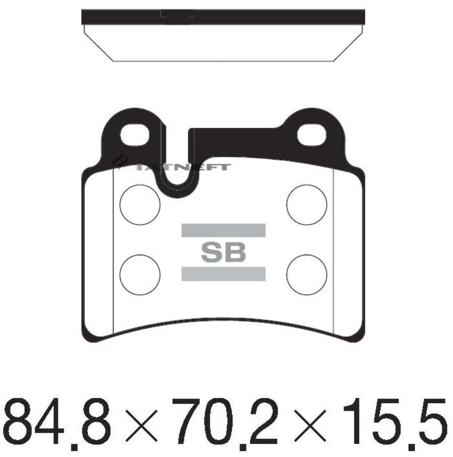 Колодки тормозные задние SP2232