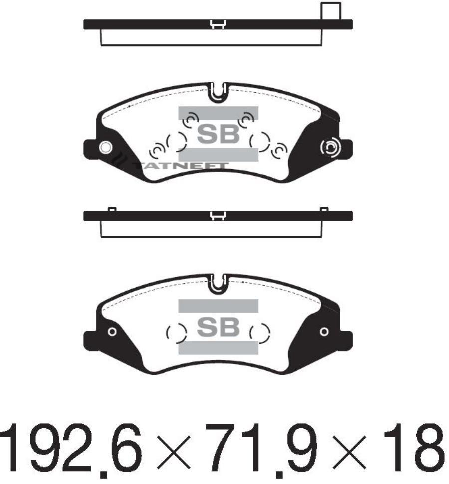 Колодки тормозные передние SP2238