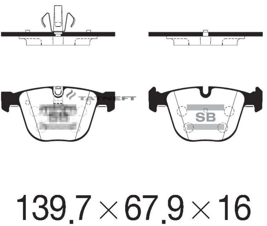 Колодки тормозные задние SP2246