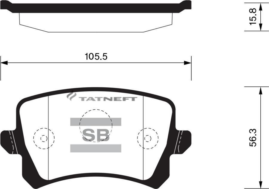 Колодки тормозные задние SP2263