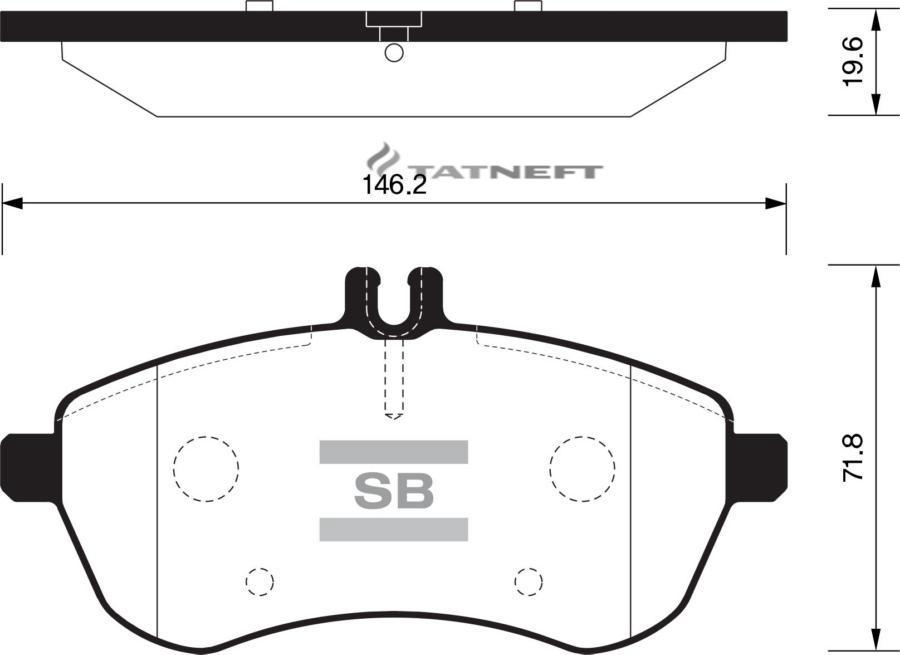 Колодки тормозные передние SP2284