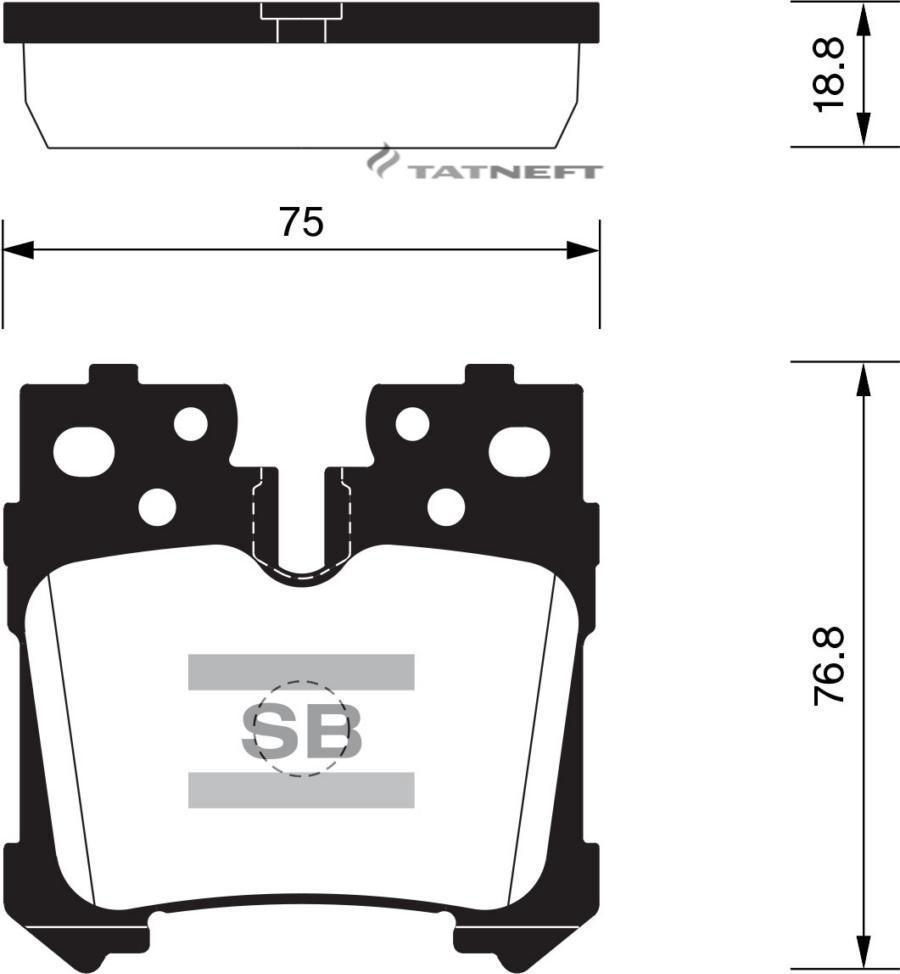 Колодки тормозные задние SP2301
