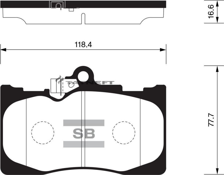 Колодки тормозные передние SP2302