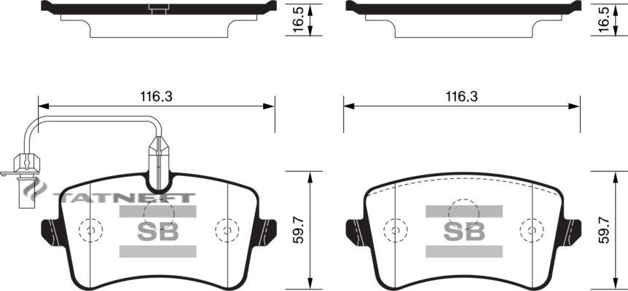 Колодки тормозные задние SP2317