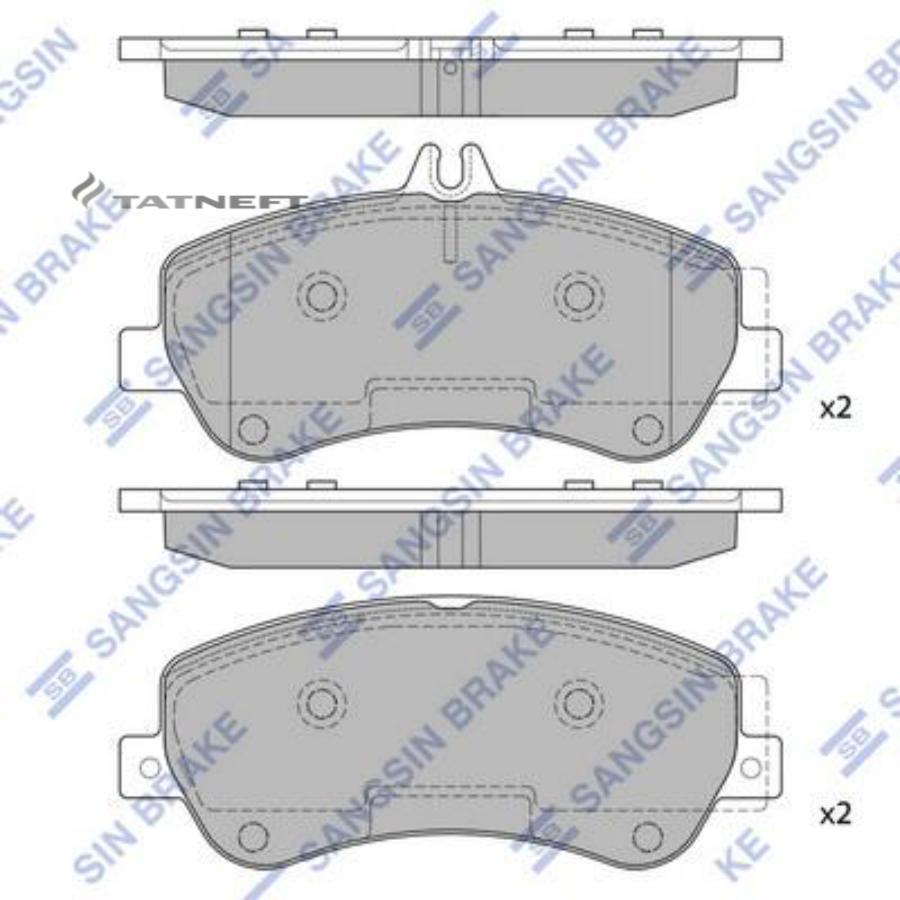Колодки тормозные передние SP2330