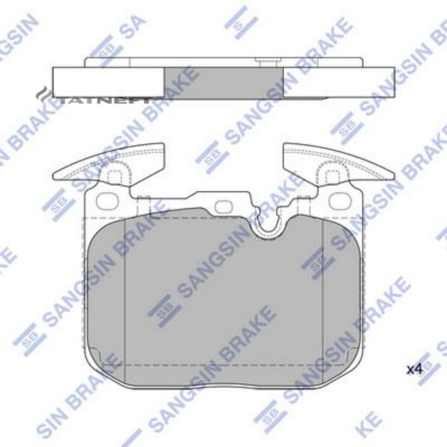 Колодки тормозные передние SP2402