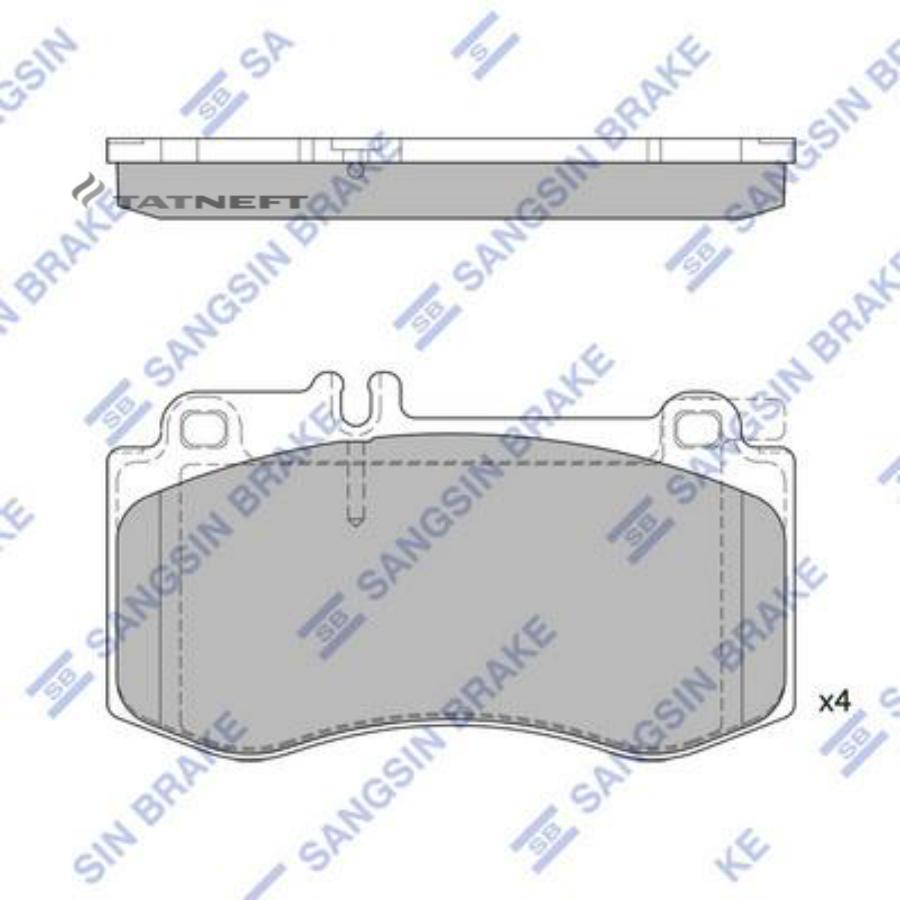 Колодки тормозные передние SP2378