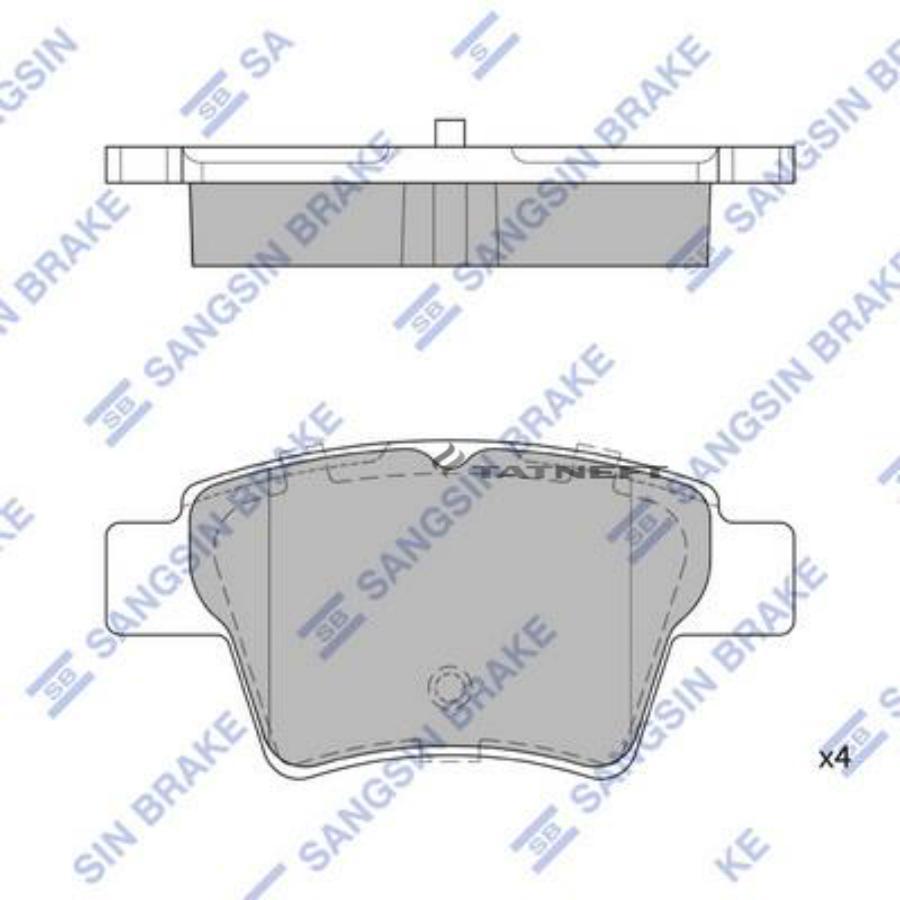 Колодки тормозные задние SP2153