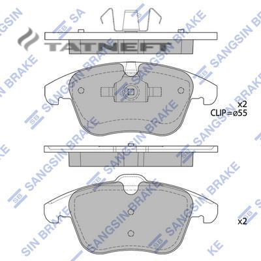 Колодки тормозные передние SP2101F