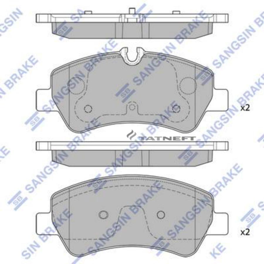 Колодки тормозные задние SP1884
