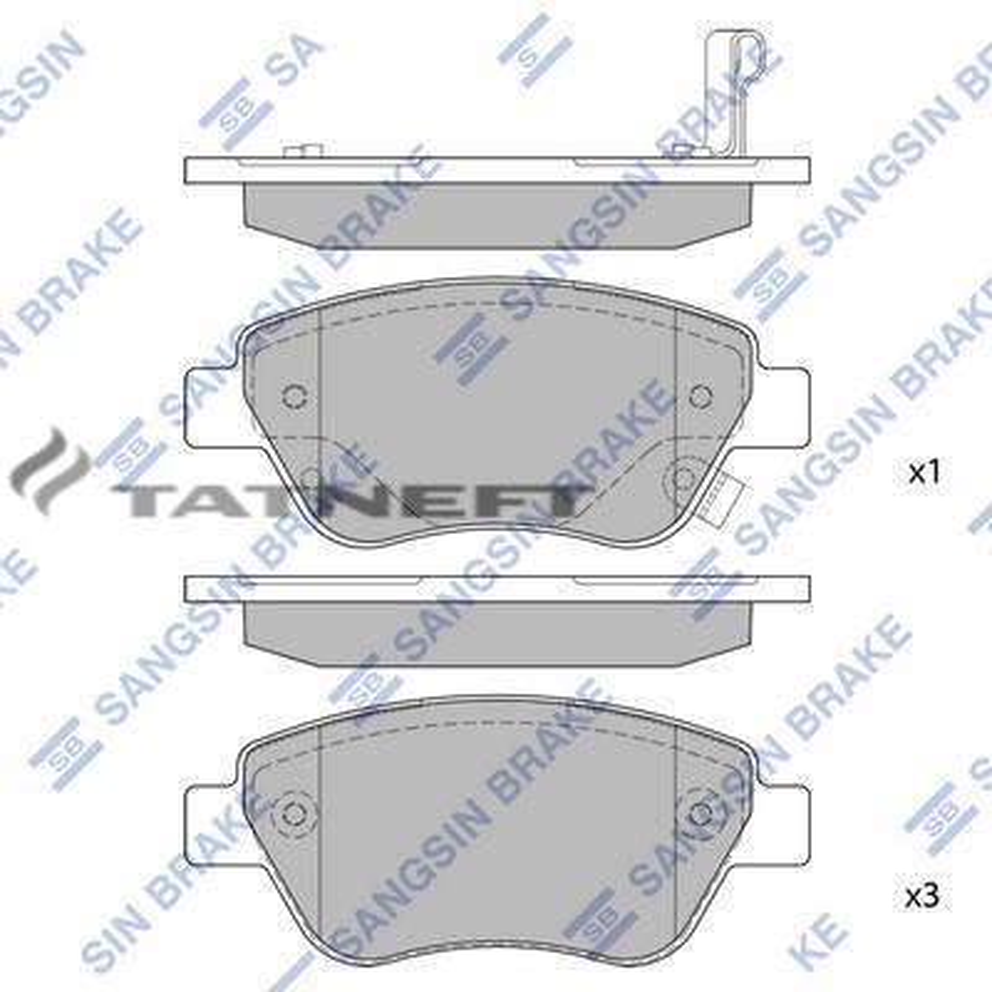 Колодки тормозные передние SP1810