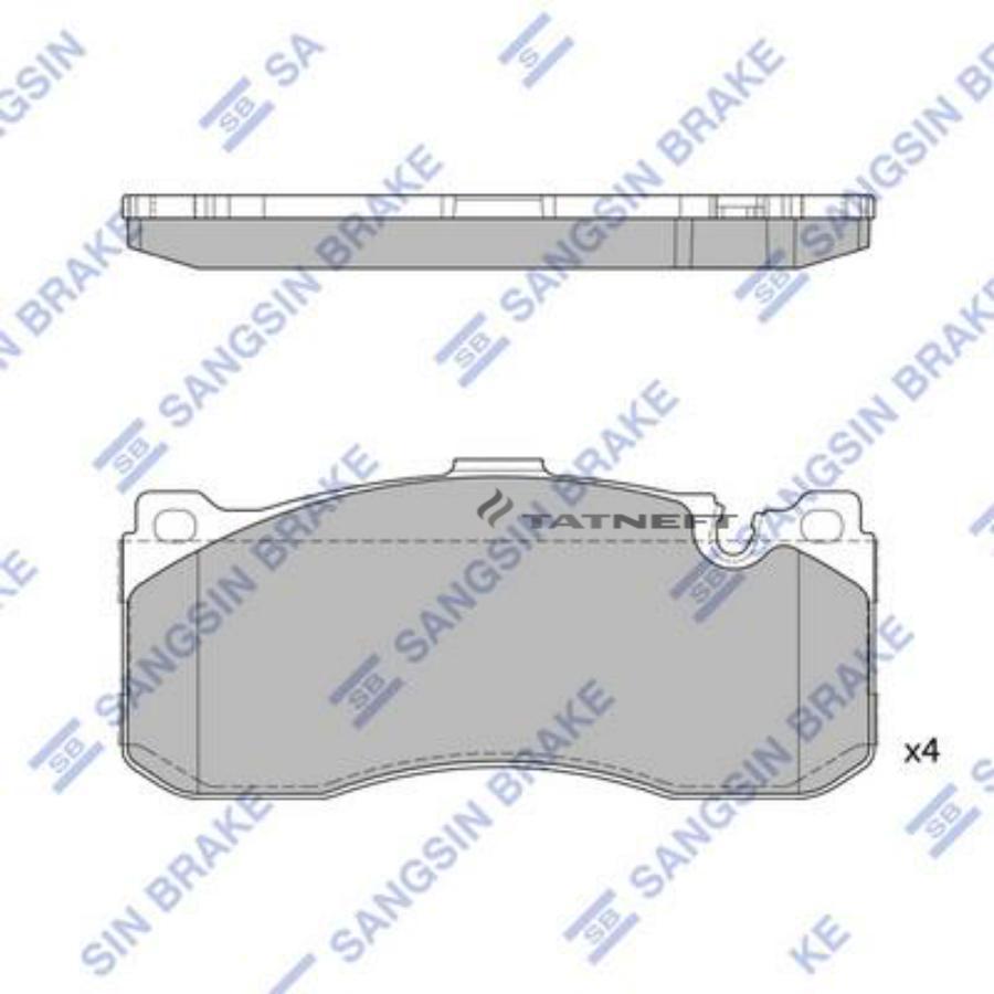 Колодки тормозные передние SP1791